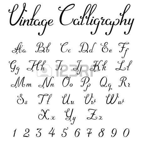 """Bien-aimé Résultat de recherche d'images pour """"calligraphie alphabet retro  TI35"""