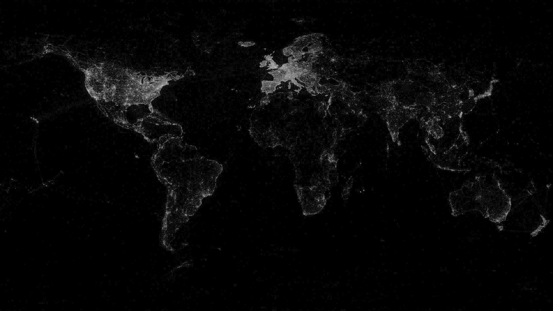World Map 1920x1080 World Map Wallpaper Map Wallpaper Black Aesthetic Wallpaper