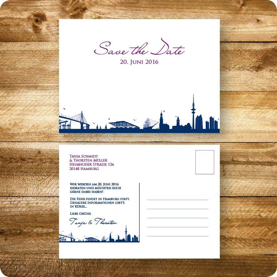 save the date-karte maritim, hamburg, einladung für hochzeit, Einladungsentwurf