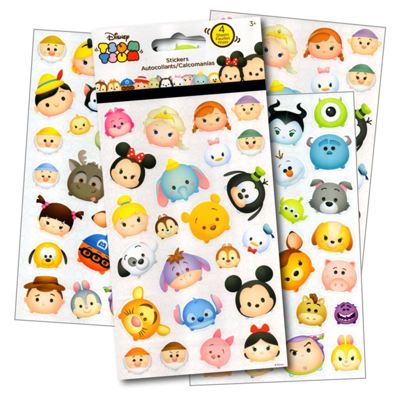 Disney Tsum Tsum Stickers 4 Sheets of Stickers $5 95
