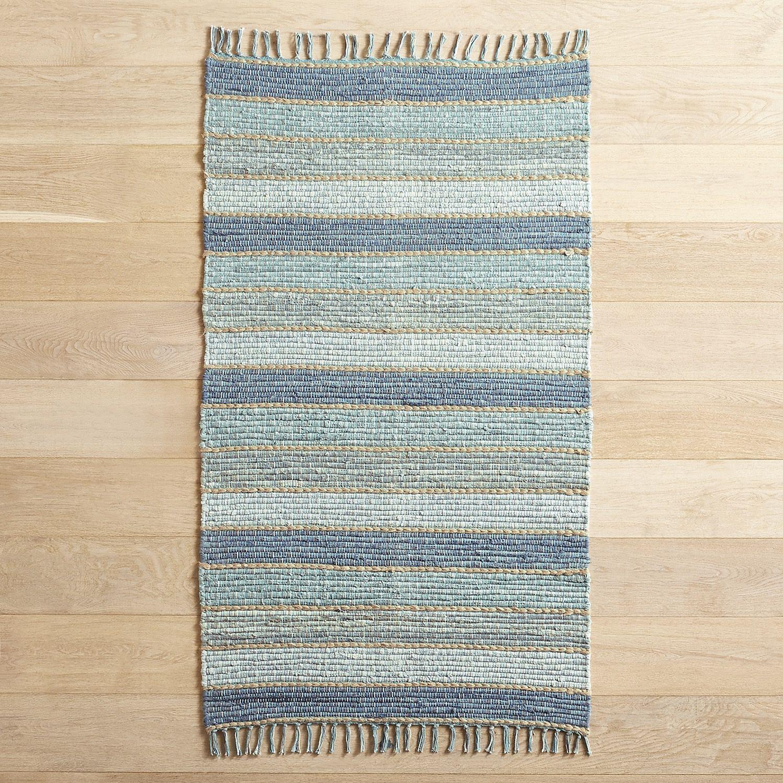 Chindi Blue 3x5 Rug | Rugs, Kitchen rug, Bathroom rugs