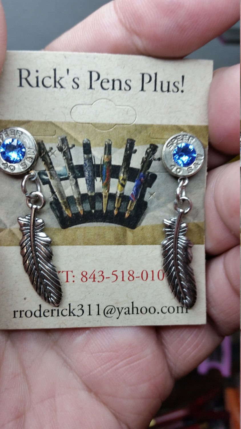 Sr 40 Cal Smith And Wesson Bullet Earrings Custom Made In The Usa By A U S Navy Veteran Rnrgiftworld On Etsy