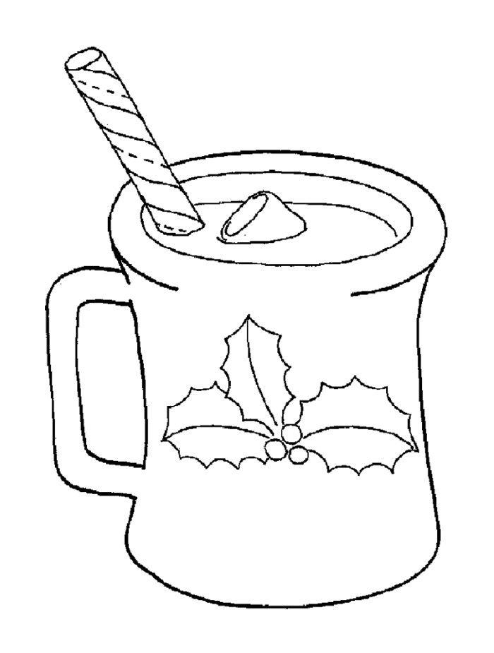 Hot Cocoa Of Christmas Coloring Page Starbucks kids craft day