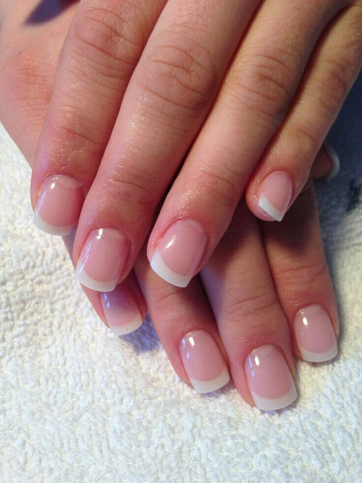 Nice Length Shape French Tip Gel Nails Gel Nails French French Tip Nails