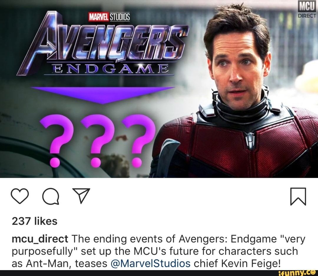"""Mcu_direct The ending events of Avengers Endgame """"very"""