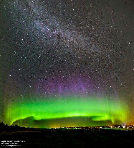 Beautiful aurora borialis