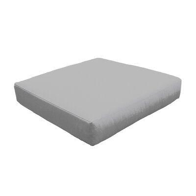 Photo of TK Classics Indoor/Outdoor Ottoman Cushion Fabric: Quick – Dry Foam/Acrylic in Gray, Size 6″ H x 28″ W x 28″ D   Wayfair