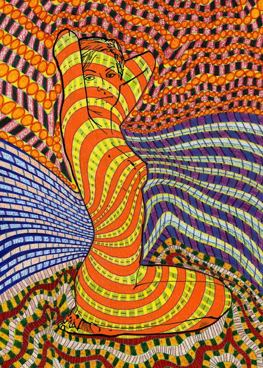 c23356abbf87 Psychedelic Woman by Russel Anderson