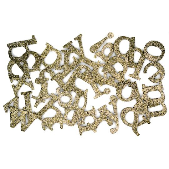 Large Champagne Glitter Letter Stickers By Recollections Michaels Glitter Letters Lettering Glitter Background