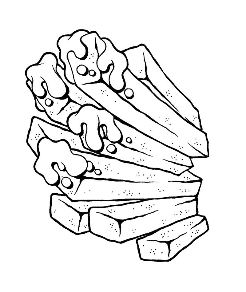Junk Food Fries Coloring Page For Kids   Action Man Coloring Page ...