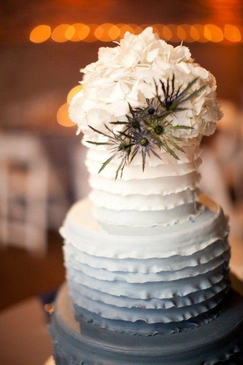 Een ombre bruidstaart