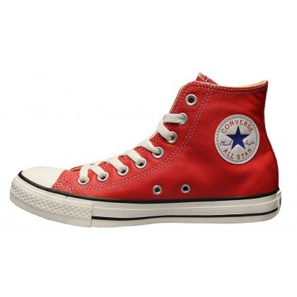 Converse Chucks Hi Leder Red