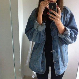 jacket grunge jeans jean jackets blouse jeanjacket baggy big