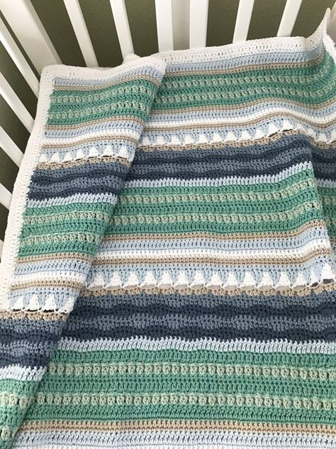 Crochet Baby Blanket Pattern - Sailboats Baby Blanket Pattern - EASY ...