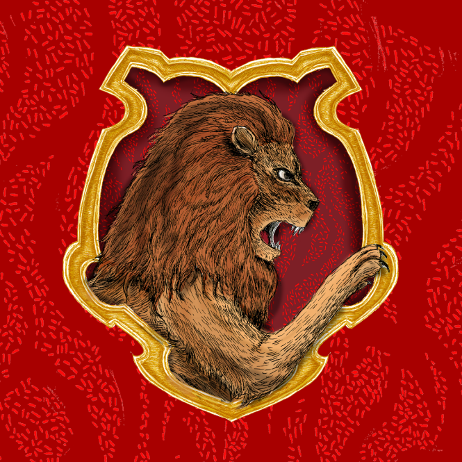 Pottermore Gryffindor House Crest illustration Which