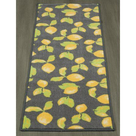 Best Ottomanson Lemon Collection Contemporary Grey Lemons 640 x 480