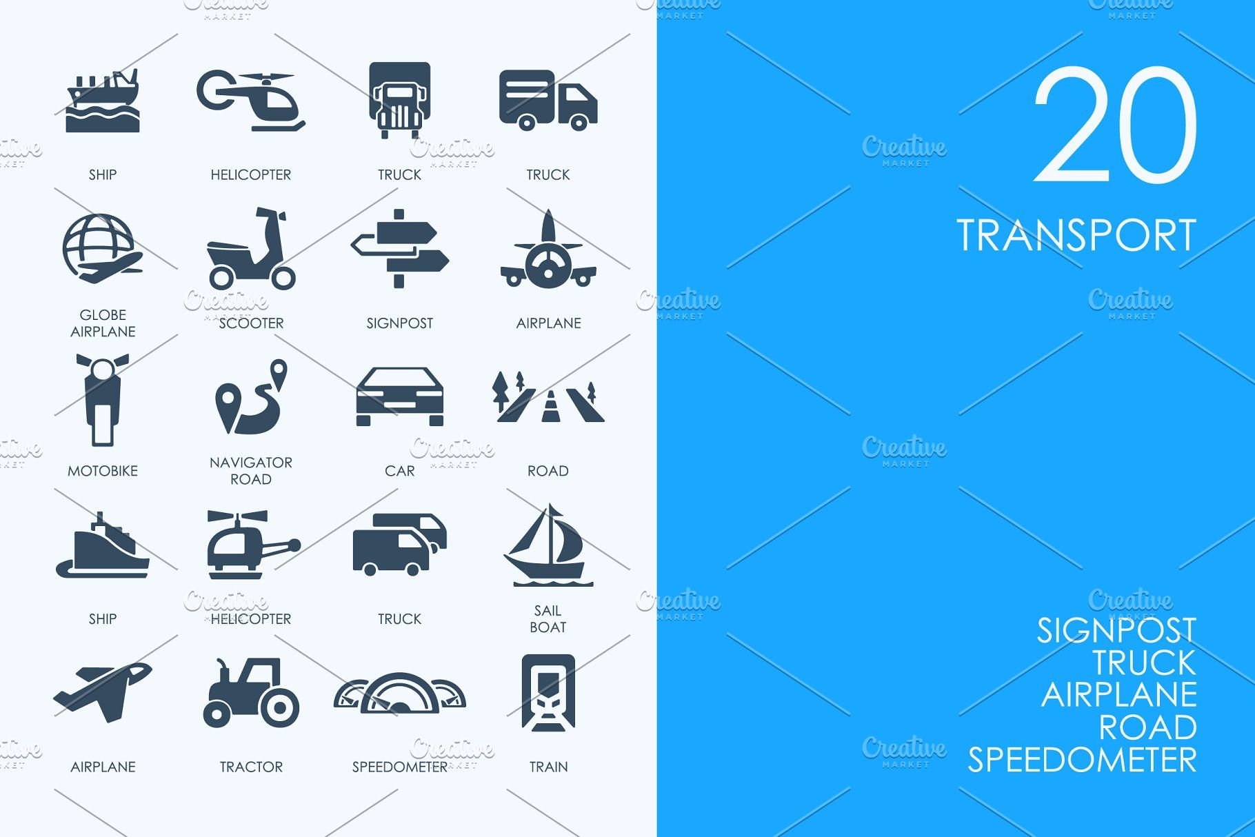 Transport icons TransporticonsIcons Templates