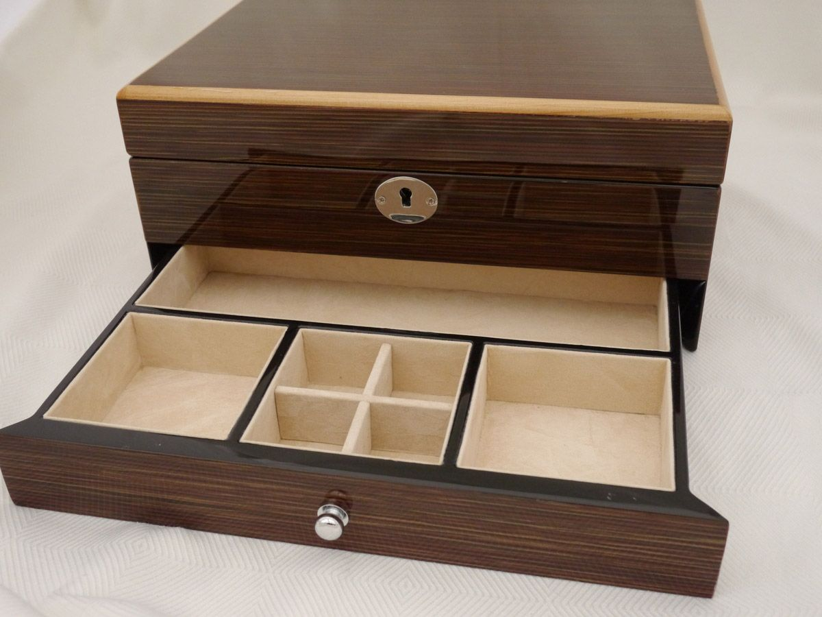Rosewood Hand Crafted Jewellery Box with Mirror & Drawer | Box ...