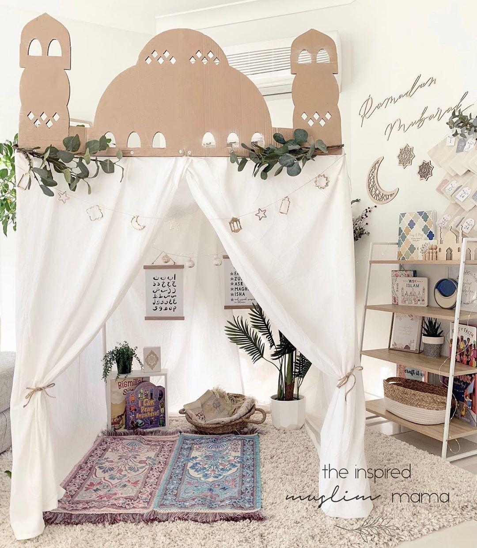 The Inspired Muslim Mama Muslim Prayer Room Ideas Islamic Decor Prayer Room