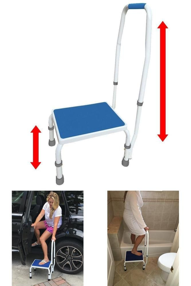 Bed Step Stool: Quality Step Stool Adjustable Helper Removable Handle