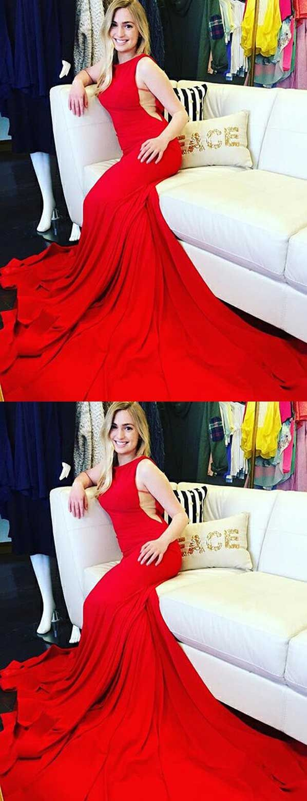 Long red prom dresseselegant prom dresseswomen prom dresseslong