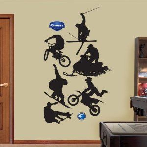 Extreme Sports Silhouettes Wall Decal 51 x 81 in - Wall Decor Stickers - Amazon.com  sc 1 st  Pinterest & Extreme Sports Silhouettes | Classroom theme ideas | Pinterest ...