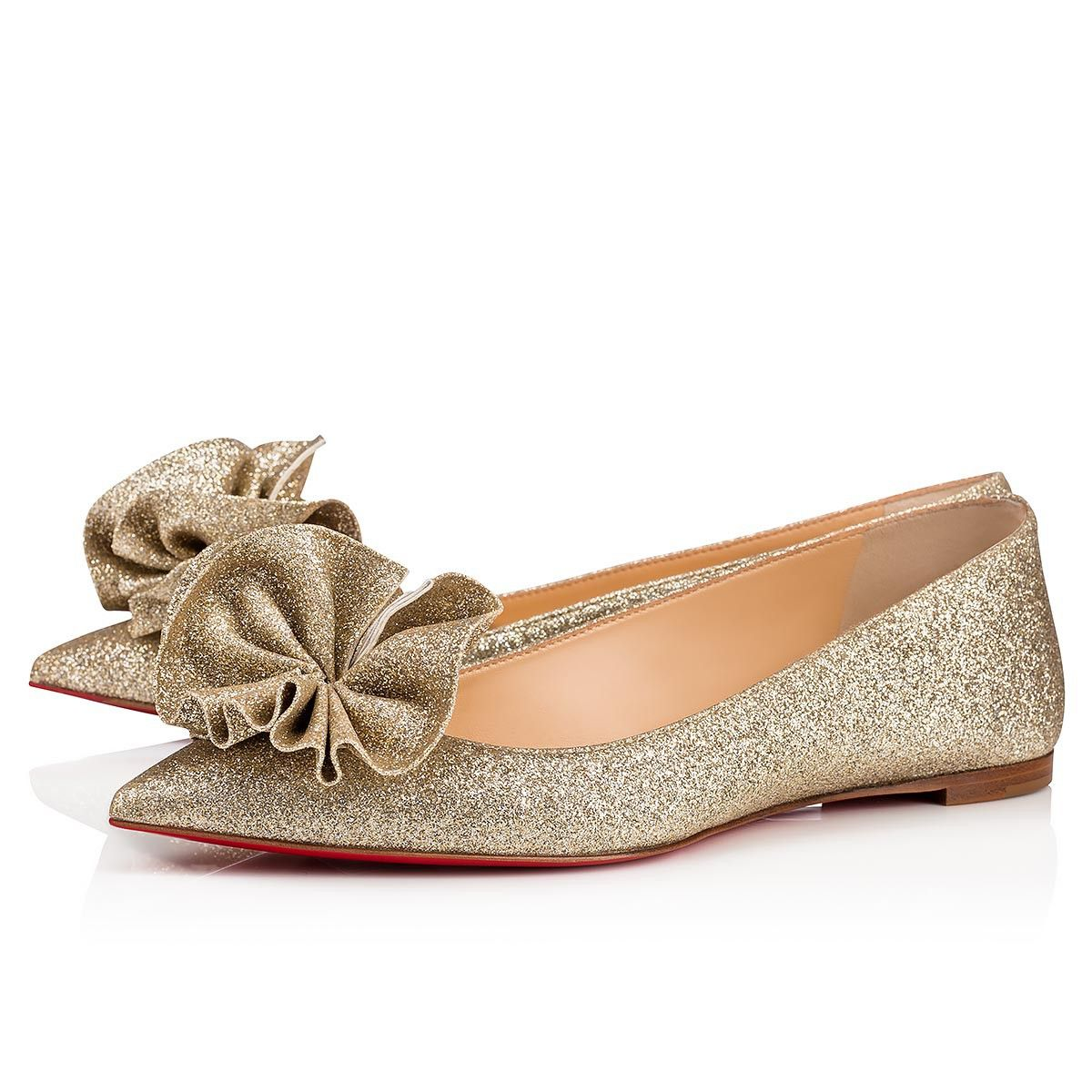 31345c8d83ce Christian Louboutin United States Official Online Boutique - Anemosea Flat  Platine Glitter Tonic available online. Discover more Women Shoes by  Christian ...