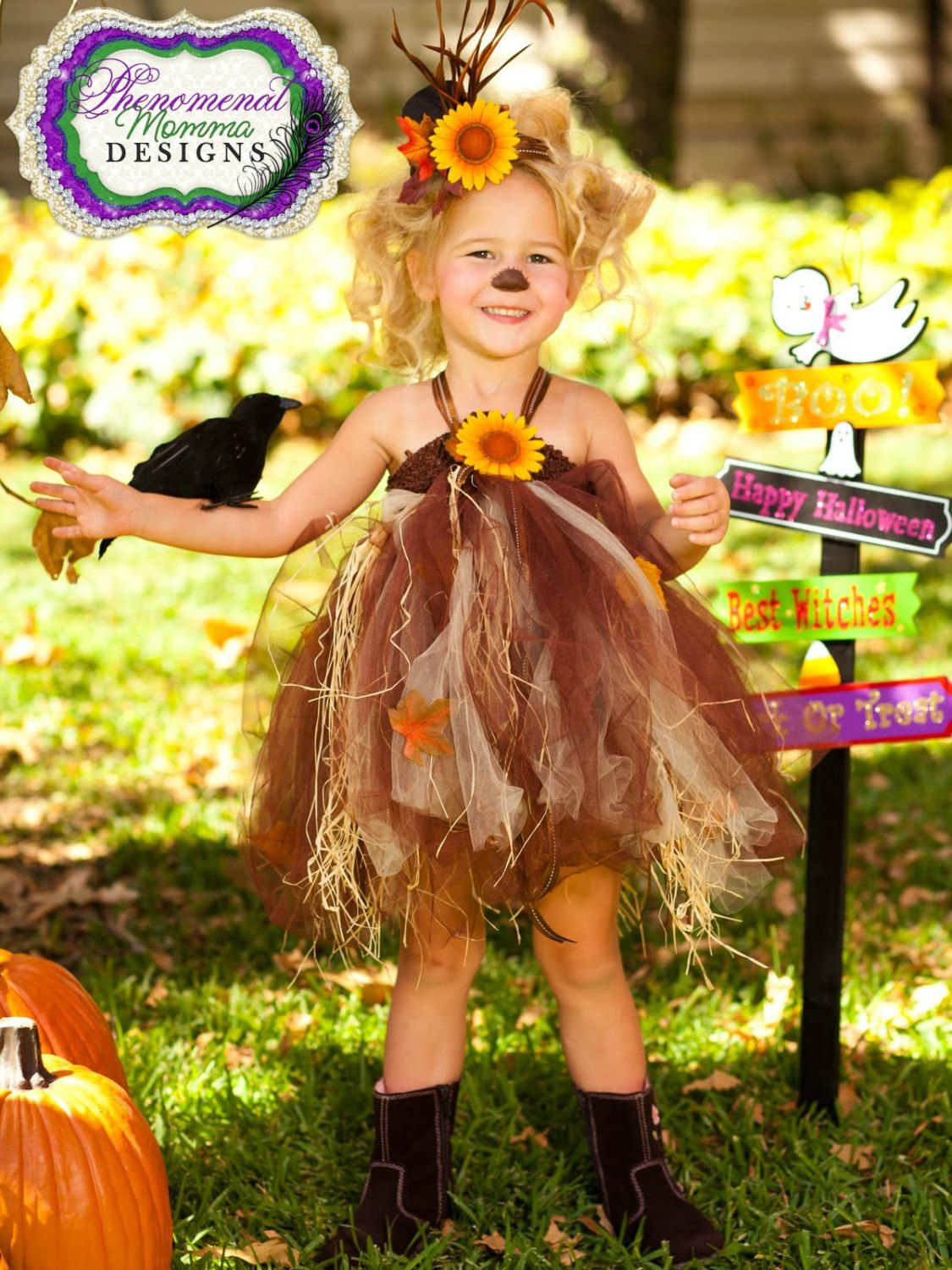 Adorable Scarecrow Tutu Dress and Mini Top Hat Set by ShopPMD ...