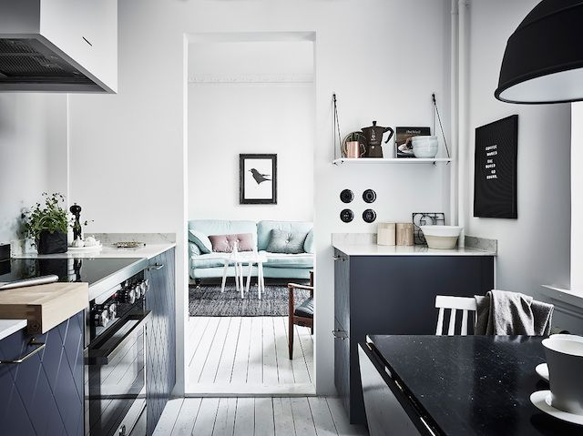 Create A Kitchen That S Cool Calm And Functional: A Swedish Apartment In Cool, Calm, Icy Tones (my