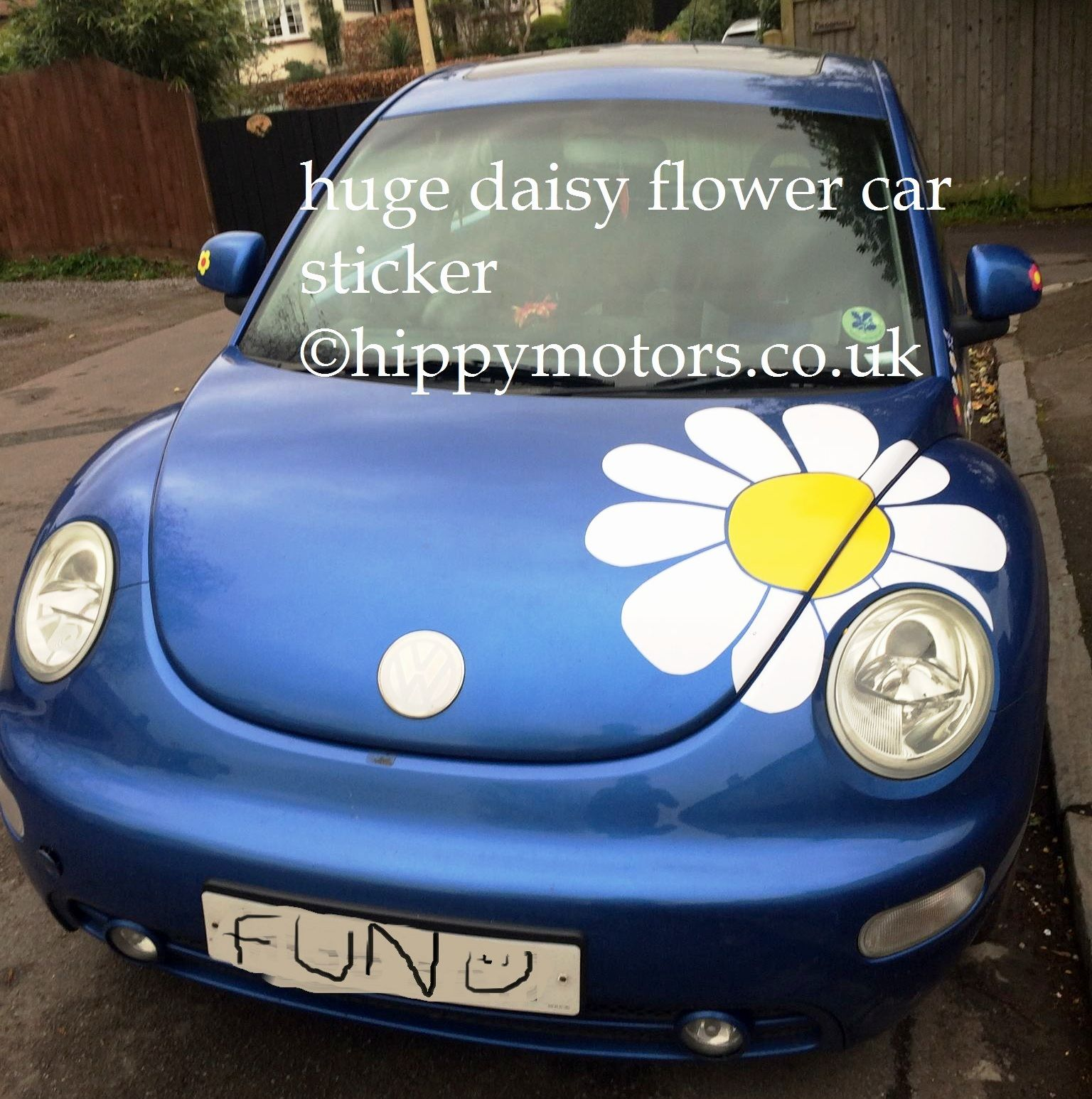 Huge daisy car sticker decal perfect for a beetle vw by hippymotors co uk