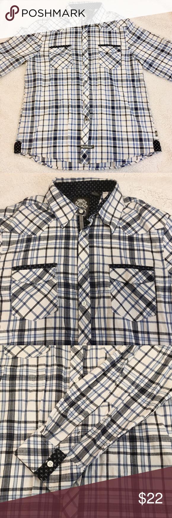 English Laundry Men S Button Down Dress Shirt Shirts Shirt Dress Colorful Shirts [ 1740 x 580 Pixel ]