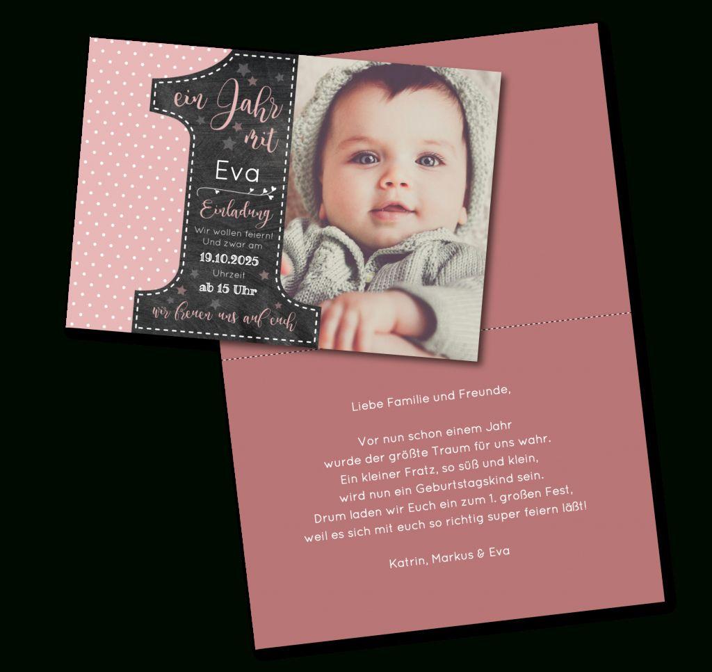 Einladungskarten Einladung 1 Geburtstag Einladung Insparadies