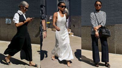 Europe Fashion Men's And Women Wears......: BLACK AND WHITE WERE THE STREET STYLE COLORS OF CH...