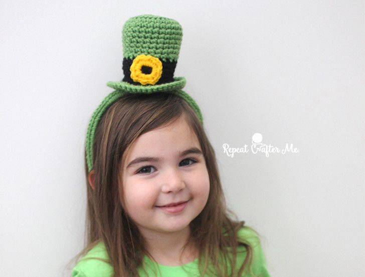 Crochet Leprechaun Hat Headband | Holiday - St Patrick\'s Day ...
