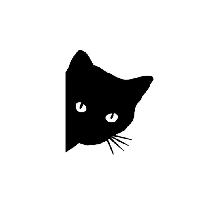 Sneaky Kitty Cat Logo Vinyl Decal