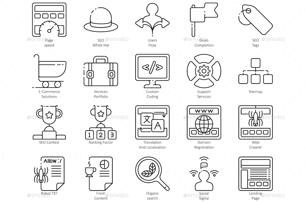 Seo Line Icons Business Campaign Communication Content Copywriting Email Icon Icons Internet Keyword Line L Line Icon Icon Icon Design