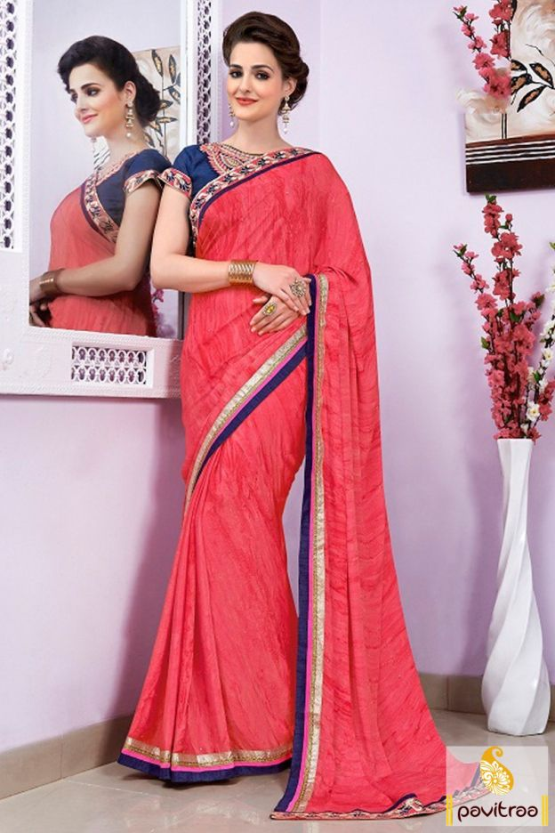 Be the different looking diva with red and cobalt blue festival saree with online discount. It is fashionable with designer style blouse. Shop it with discount. #partywearsaree, #netsaree, #onlinesareeshopping, #embroiderysaree, #discountoffer, #georgettesaree, #bollywoodsaree, #actressstylesaree, #pavitraafashion, #utsavsaree, #printedsaree, #cobaltbluepartywearsaree http://www.pavitraa.in/store/party-wear-saree/ callus:917698234040