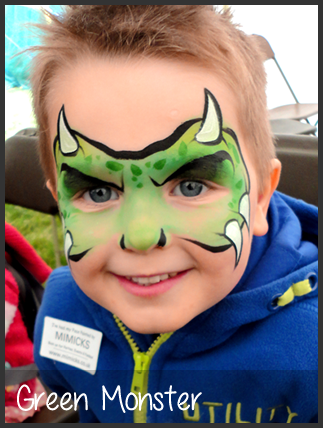 Monster Face Painting Kinderschminken Jungs Kinderschminken