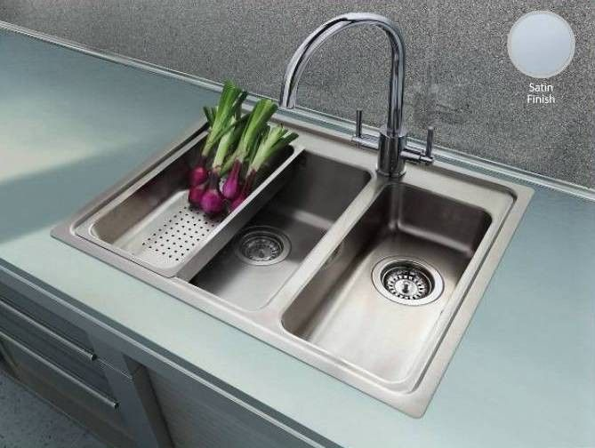 Clearwater Bella 1.5 Bowl Inset Stainless Steel Sink No Drainer ...