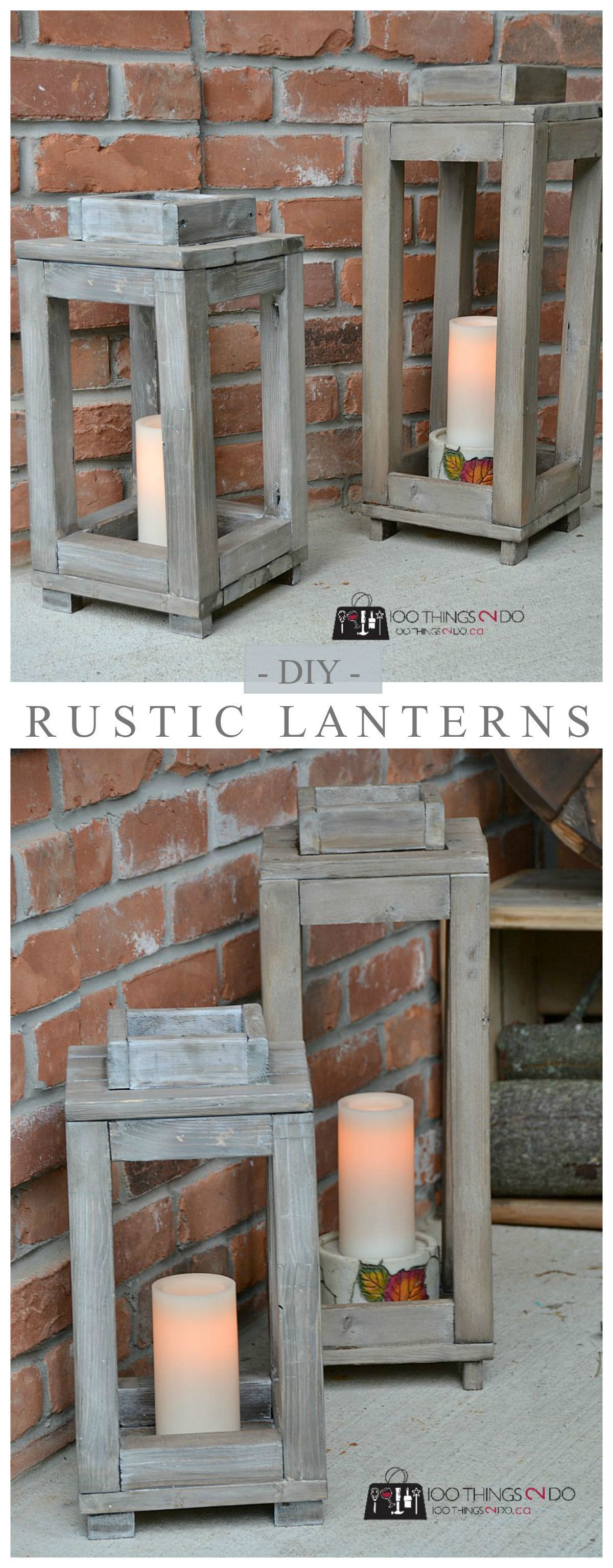 Diy Rustic Lanterns - Tutorial And Video . Pottery
