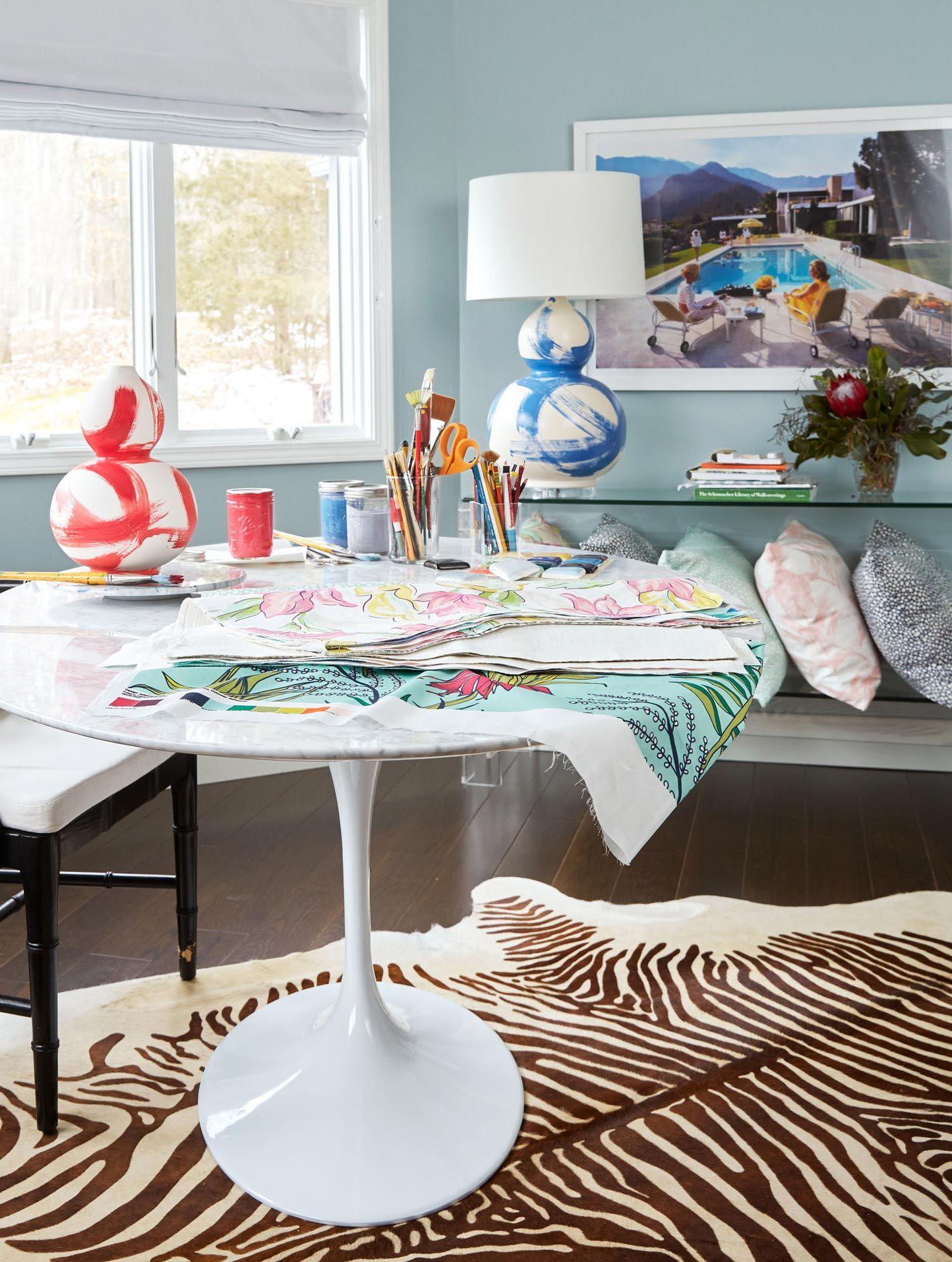 Bek Art Table White Sofa Living Room Living Room White Green Tile #seafoam #green #living #room