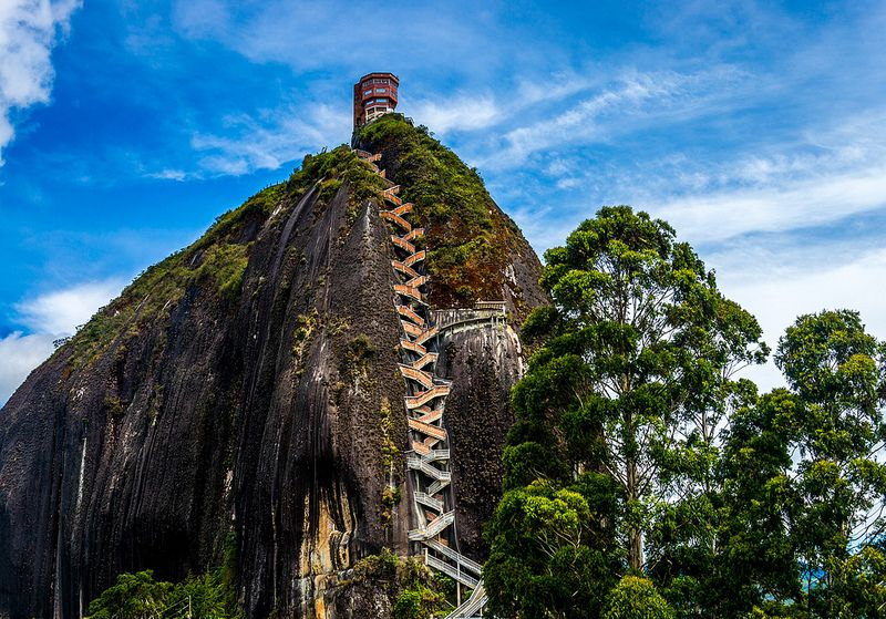 The Rock of Guatapé (El Penon de Guatape) Medellin, Colombia
