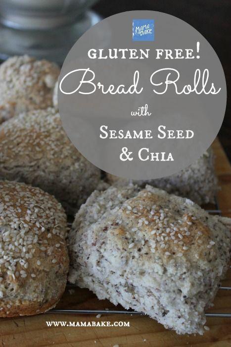 Gluten Free Bread Rolls Recipe With Sesame Seeds Chia Mamabake Gluten Free Bread Rolls Recipe Dairy Free Bread Bread
