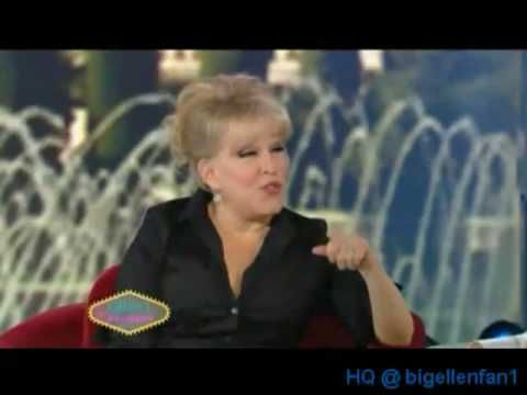 Bette Midler on Ellen Degeneres 11/24/08 (video)