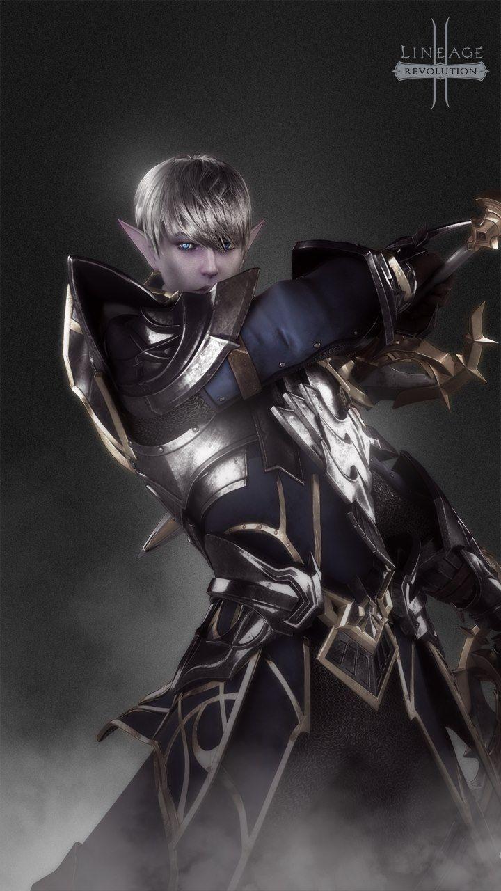 Lineage  Revolution Wallpaper Dark Elf Mobile Game I Love Anime Dark