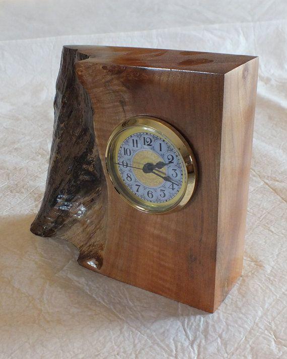 Live edge Desk Clock made from maple. by BenhamDesignConcepts, $40.00