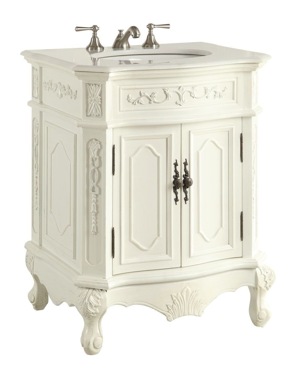27 Antique White Spencer Bathroom Sink Vanity Cf 3305w Aw 27