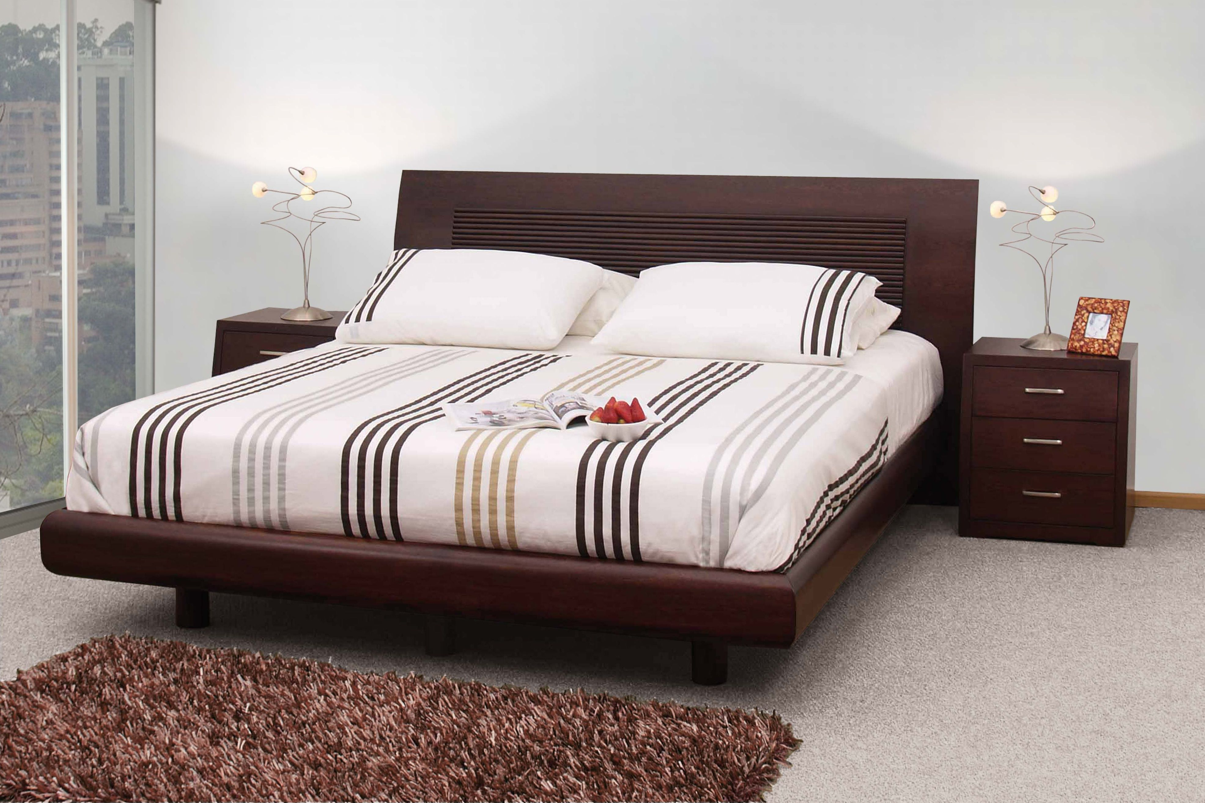 Habitaciones sofisticadas que reflejan tu estilo la cama - Cabeceras de cama de madera ...