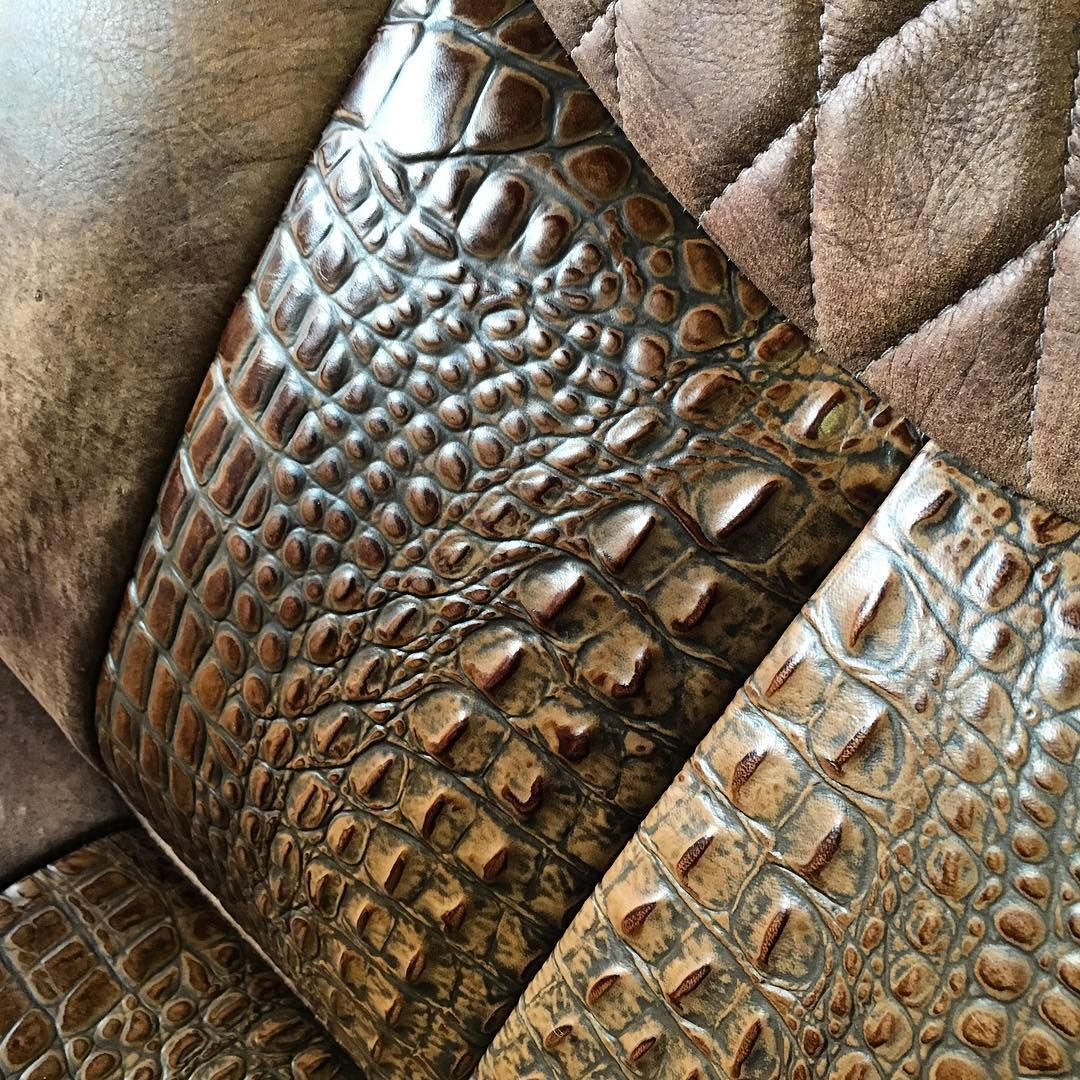 Alligator Or Crocodile Leather Seat Inserts Custom Car Seat Covers Artwork For Home