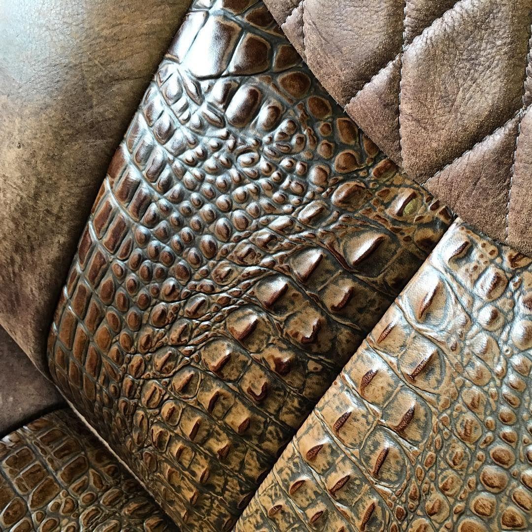 Alligator Or Crocodile Leather Seat Inserts Custom Car
